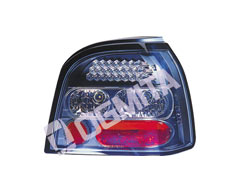 VW Golf III 91.08-97.09 galinis žibintas kompl.juod.LED tuning D/K
