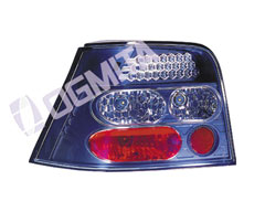 VW Golf IV 97.08-03.09 galinis žibintas kompl.2vnt.juod.LED tuning D/K